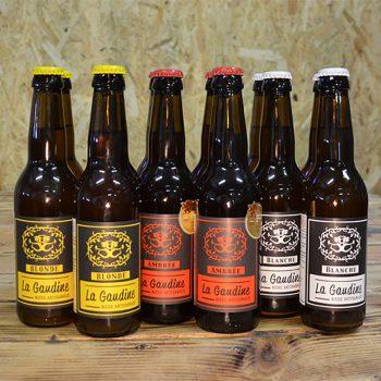 Coffret Authentique regroupant 12x33cl bouteilles de bières artisanales La Gaudine