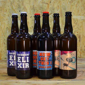 Coffret Éphémère regroupant 6x75cl bouteilles de bières artisanales éphémères. S'adapte selon les nouveautés.