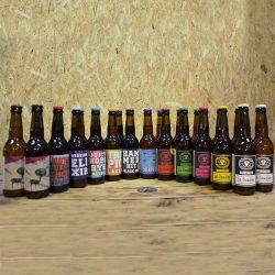 Coffret Kit de Survie de 24x33cl bouteilles de bières artisanales. S'adapte selon les nouveautés.